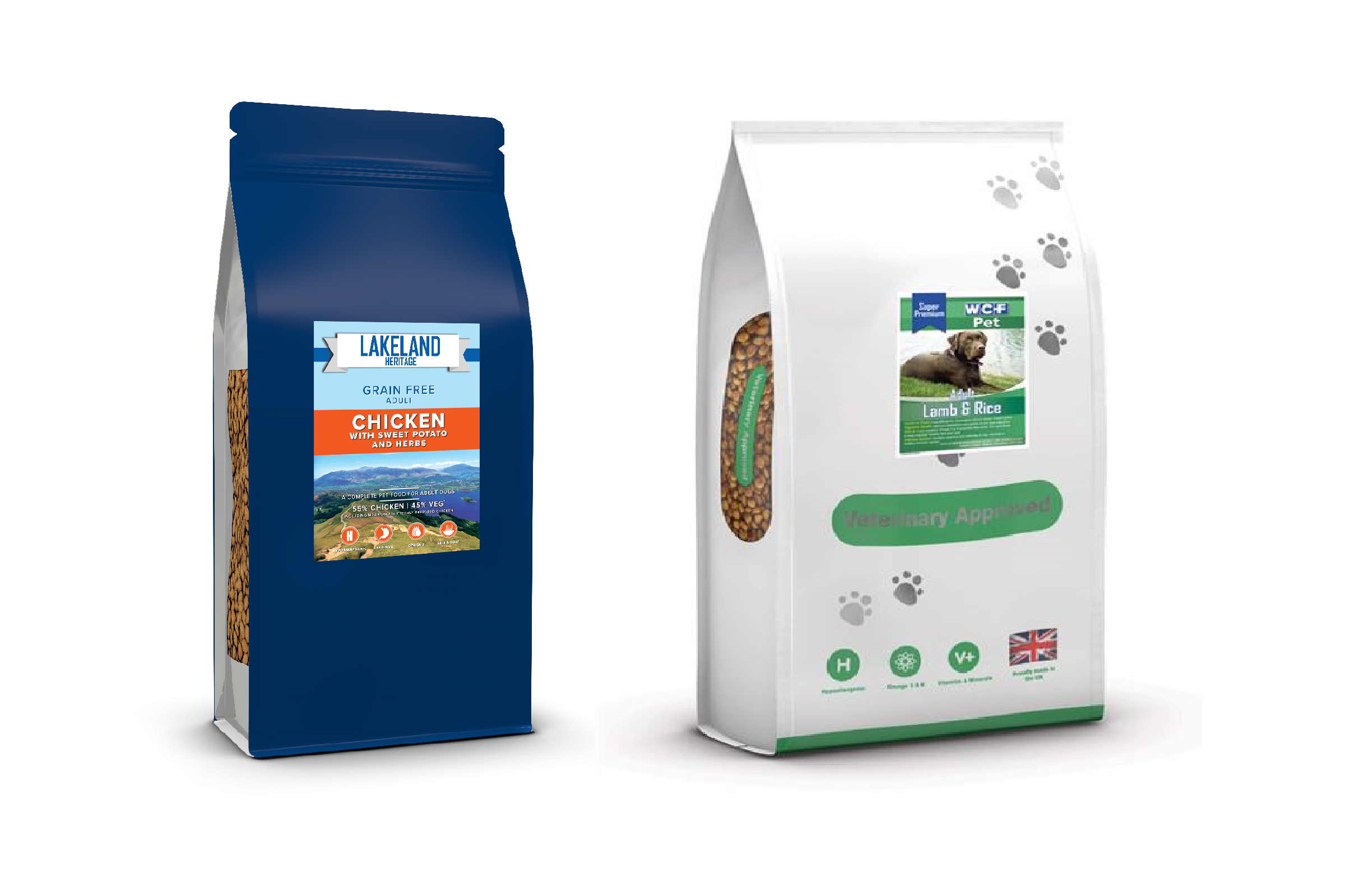 Our dog and cat food
