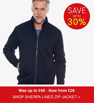 Shop Sherpa Lined Zip Jacket