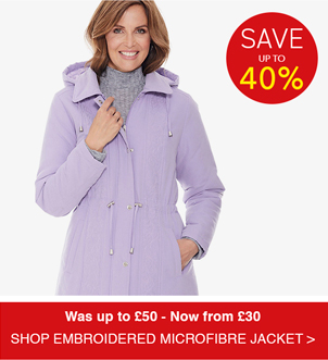 Shop Embroidered Microfibre Jacket