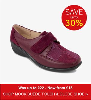 Shop Mock Suede Touch & Close Shoe