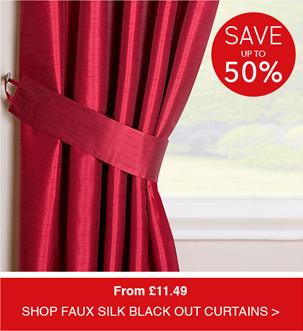 Shop Faux-Silk Blackout Curtains-Eyelet Heading