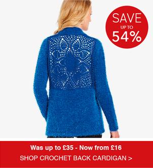 Shop Crochet Back Feather Yarn Cardigan