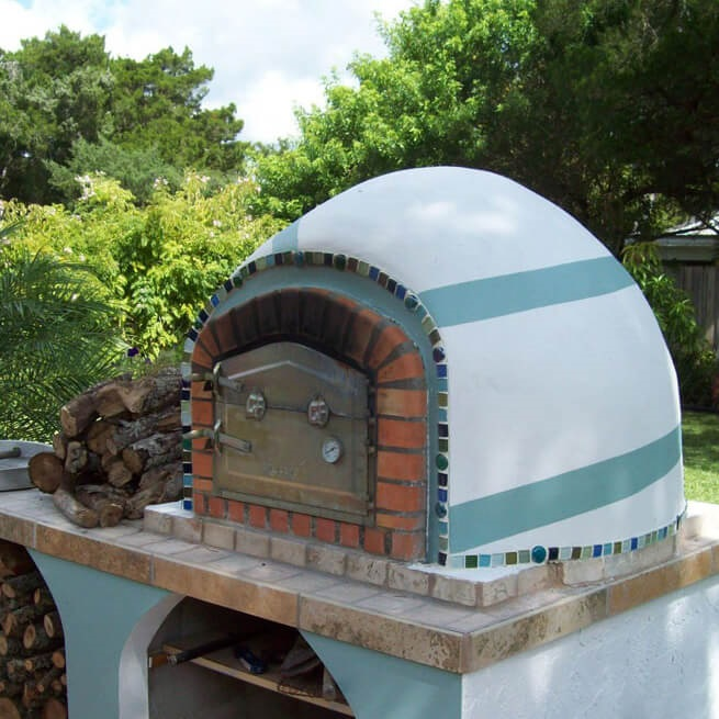 Painted Outdoor Oven