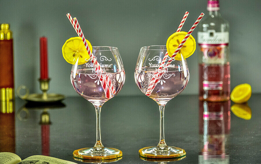 Win a pair of engraved Gin Blooms!