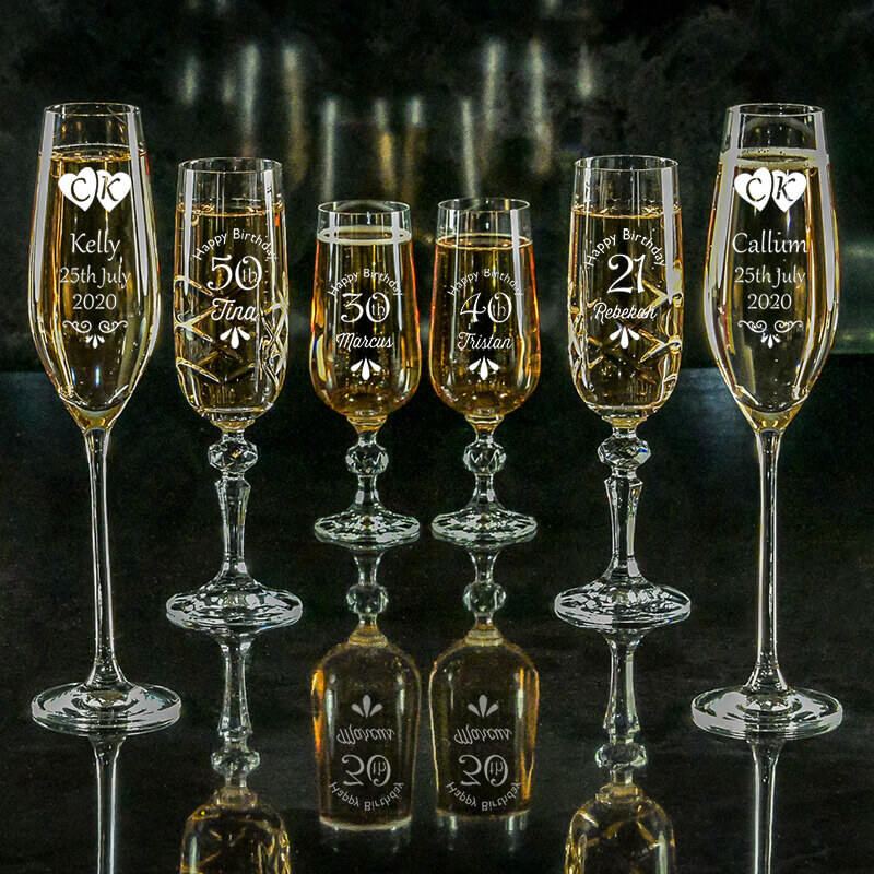 Click here to view our Champagne Flutes
